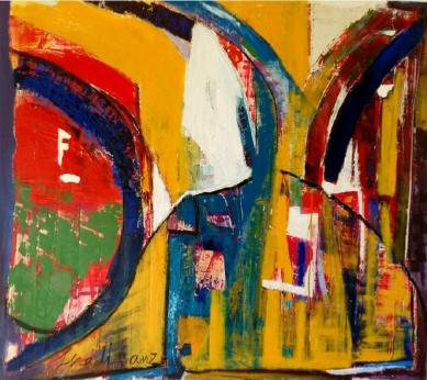 To Be Free - 2010, Cape Town - 151x200 - Acrylic on Canvas, Mixed media