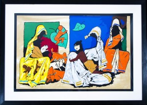 MF Husain - Mother Teresa - 123 x 82 cm - Lithograph 18/150 (SOLD)