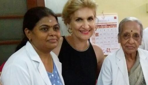 Shadi with WIA's amazing Dr Shanta (right) and Dr Malliga (left)